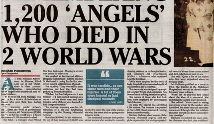 1200 angels died two world wars
