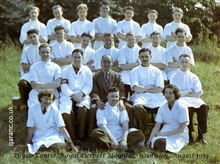 1955 August 10 Royal Herbert Hospital Woolwich RHH Physiotherapists