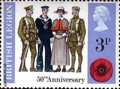 50th Anniversary British Legion Poppy Appeal 3p Stamp 1971
