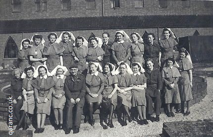81 British General Hospital Oostrum Holland R H Sharpe far right