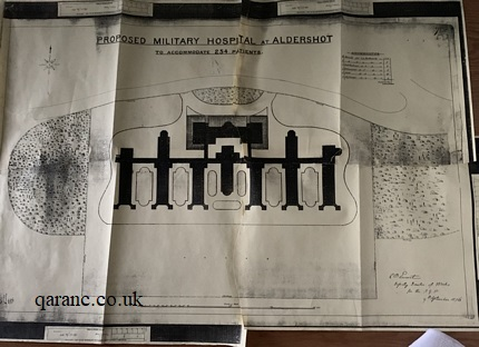 Aldershot Military Hospital Original Plans 1876