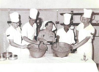 Army Catering Corps Making Christmas Pudding With Matron Major Moran BMH Mount Kellett