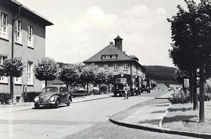 Army Trucks Outside BMH Iserlohn 1956