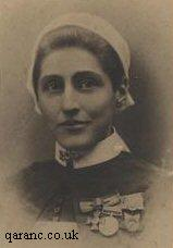 Army Nurse Ada Hind Wearing Red Cross Medals and Sudan Campaign Medals