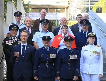 Australian Defence Nurses past and present with local dignitaries connected with the Royal Brisbane and Women's Hospital