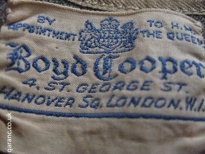 By Appointment To HM The Queen Boyd Cooper 4 St George St Hanover Sq London WI