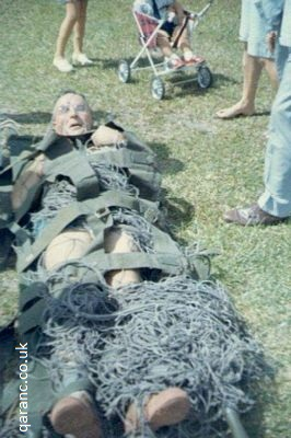 CSM tied down with army webbing netting