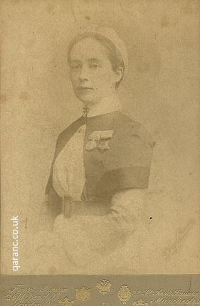 Cabinet Card Photo Army Nursing Service Nurse Egypt