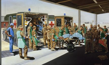 Camp Bastion Field Hospital and Medical Treatment Facility MTF Helmand Territory Southern Afghanistan