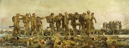 Gassed WWI oil painting John Singer Sargent RA 1918