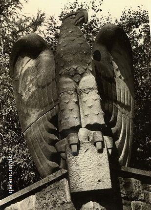 German eagle statue wall