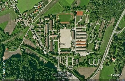 Google Map of Austria Army Buildings at Lendorf