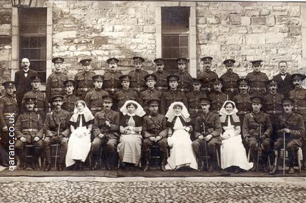 Group photo RAMC Orderlies Doctors QAIMNS Nurses Matron Ireland