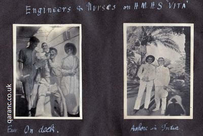 HMHS VITA Engineers Nurses Ashore