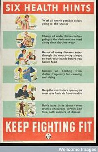Keep Fighting Fit Air Raid Poster