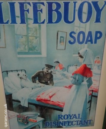 Lifebuoy Soap Royal Disinfectant Military Nurse QAIMNS Sign
