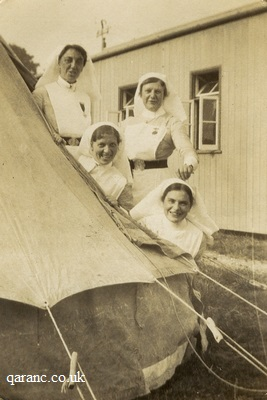 Marquee Tented Hospital WWI Nurses
