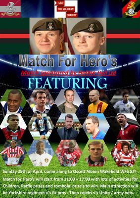 Match For Heroes Ossett Albion Wakefield Yorkshire Regiment Benevolent Fund