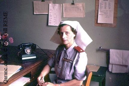 Matron BMH Tripoli September 1958 Photo by Ronald Gill REME