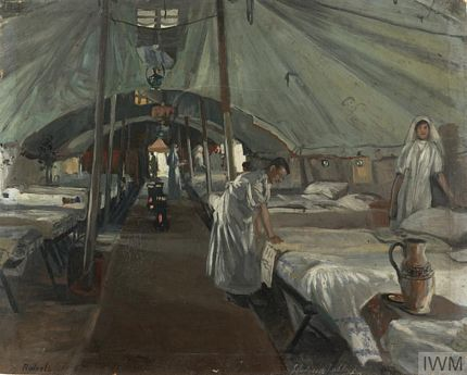 Officers' Ward at the 41st Casualty Clearing Station 1918 by J Hodgson Lobley