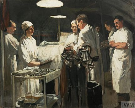 Operating Theatre at 41st Casualty Clearing Station 1918 Allied Advance WWI - The Hundred Days Offensive
