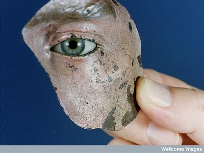 Painted Tin Face Mask From WWI
