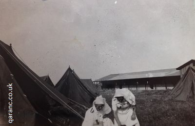Pitching Tents QAIMNS Hospital Palestine 1941 World War Two