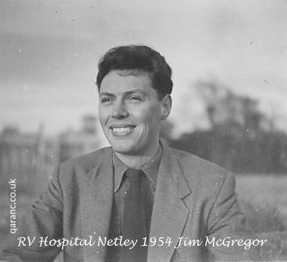Portrait Jim McGregor grounds RV Hospital Netley Autumn 1954