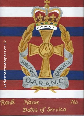 QARANC cap badge painting TRF