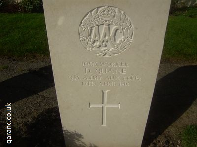 Queen Mary's Army Auxiliary Corps History War Grave
