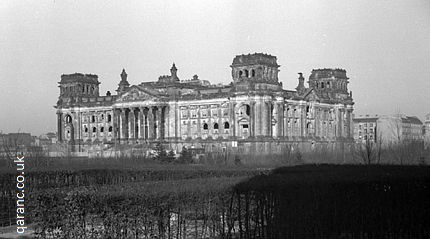 Reichstag photo after World War Two 1956