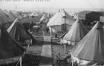 Round Tents Nurses Quarters CCS