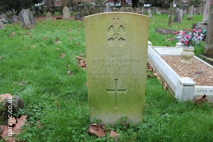 Sister Agnes Christine Mills Grave St Mary Churchyard West Malling Kent