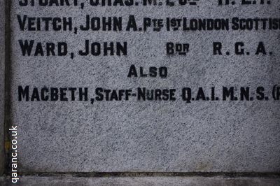 Staff Nurse Margaret Ann MacBeth