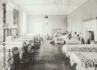 Stamford Military Hospital main ward WWI 1917 c National Trust Images