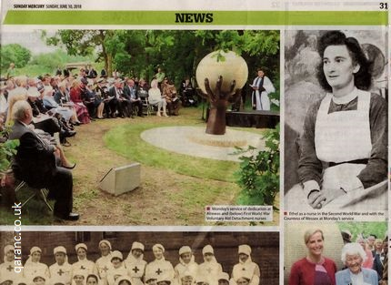 Sunday Mercury Newspaper Nursing Memorial June 2018