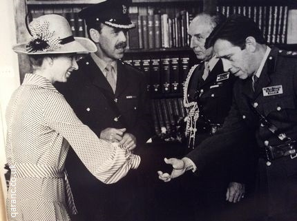 Surgeon Colonel Parker RAMC meeting Princess Anne 1979 Cambridge Military Hospital Aldershot