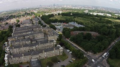 aerial photograph shooters hill woolwich london