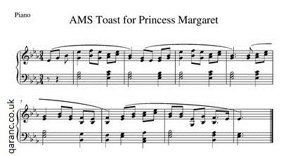 AMS Toast for Princess Margaret (Piano)