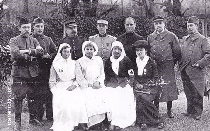 Base Hospital Bernay Rouen France staff photo Comtesse de Sesmaison Commandant Courand