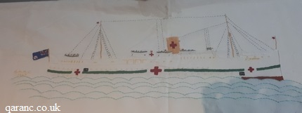 embroidered tablecloth MHMS St Andrew