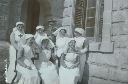 group Red Cross with QAIMNS nurses Malta First World War