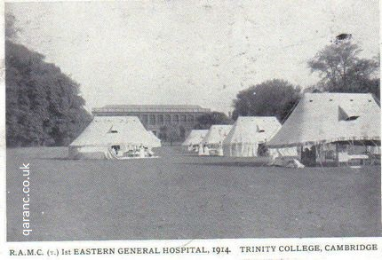ramc(t)1st eastern general hospital 1914 trinity college cambridge