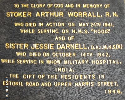 sister jessie darnell memorial St Herberts Church Darlington