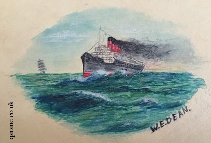 sketch hospital ship world war one