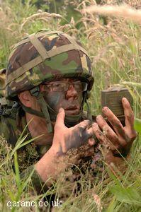 Soldier Applying Camoflage Cream