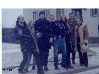 Staff from BMH Iserlohn enjoying the snow