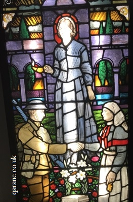 stained glass window nurse uniform QAIMNS Red Cross First World War Florence Nightingale Museum