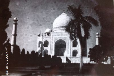 taj mahal sunset agra india 1941